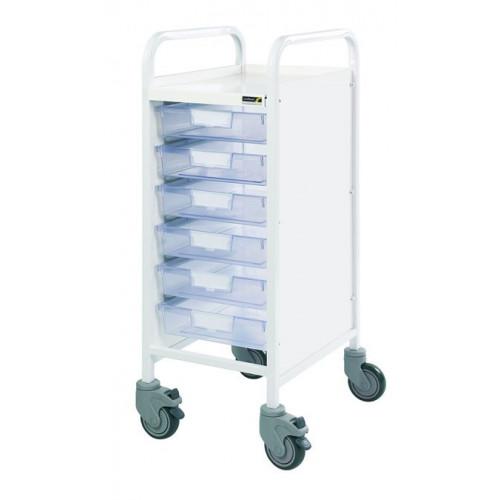 Vista 30 Trolley - Six Clear Single Trays