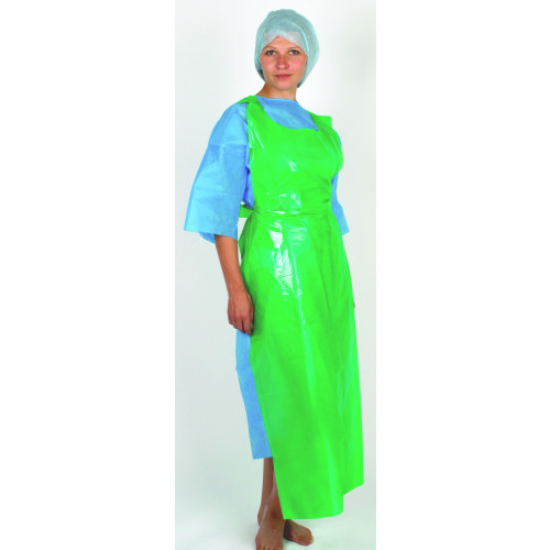 Plastic Apron Blue 69x122cm *100