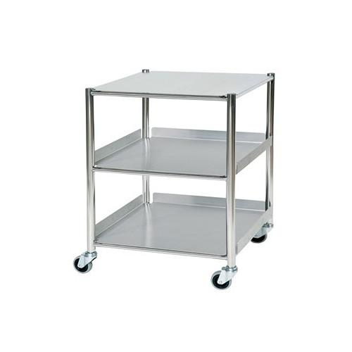 Medium Stainless Steel Surgical Trolley 1 Shelf & 2 Tray - Medium 860(H)x660(W)x520(D)*1