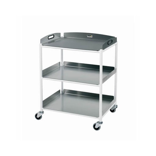 Dressing Trolley with 3 Stainless Steel Trays - Medium 860(H)x660(W)x520(D) *1