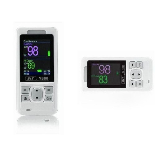 """BLT M800vet Handheld 2.4"""" OLED Screen with Pulse Oximter and 3 Lead ECG"""