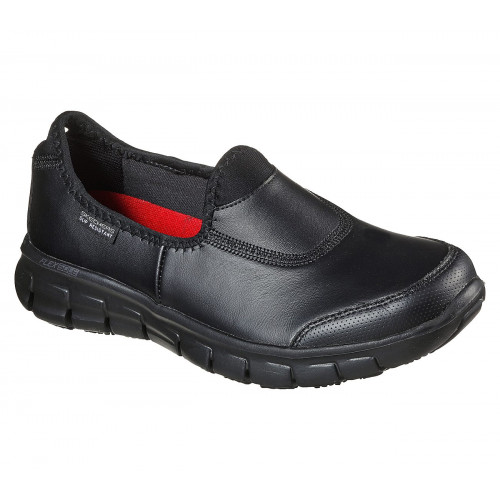 Skechers 76536EC Sure Track Female Slip-On Shoes Black Size 5
