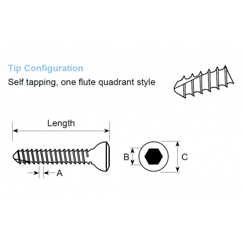 Cortical Self Tapping Screw 1.5mm