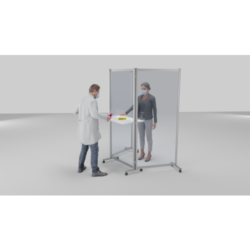 Mobile Acrylic Protective Screen Click & Collect Station
