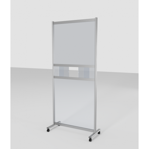 Mobile Acrylic Protective Screen with WINDOW 900mm (W) x 2000mm (H)
