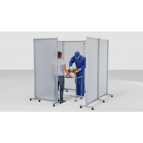 Mobile Consultation Room (Made with x7 Screens) - Clear