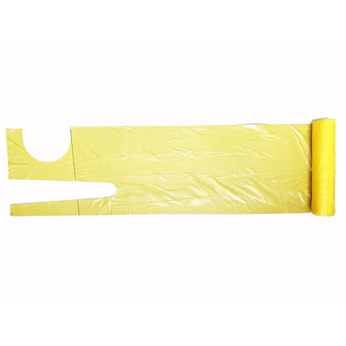 Plastic Apron Yellow 27 x 46inch 16 Micron*200