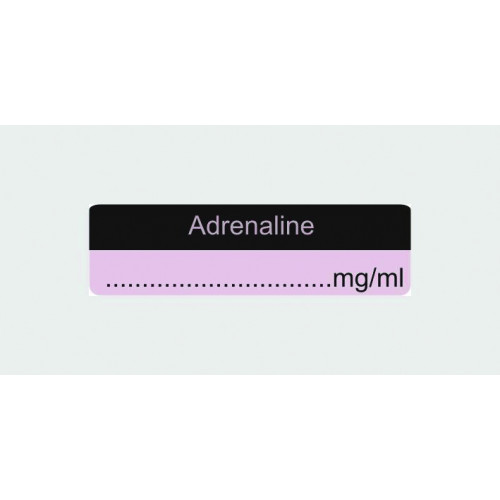 Adrenaline Label (with...micrograms/m)*400